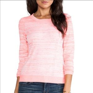 Milly crew neck sweater with zippered back